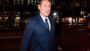 Didier Gailhaguet, le président de la Fédération française des sports de glace (FFSG), quittant le ministère des Sports,le 3 février 2020. (BERTRAND GUAY / AFP)
