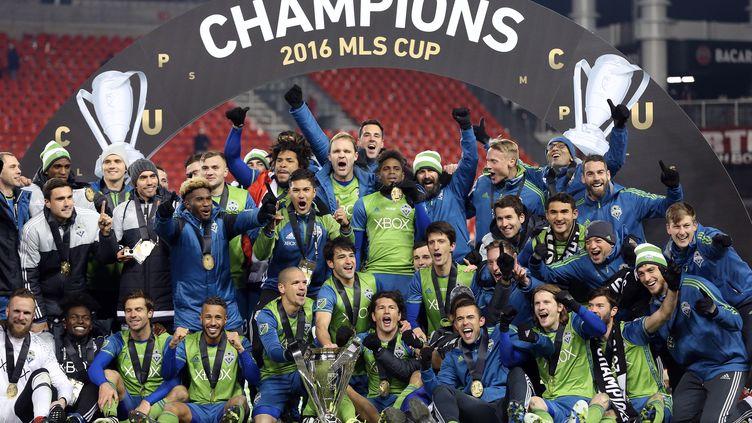 Les joueurs de Seattle, champions 2016 en MLS. (COLE BURSTON / AFP)