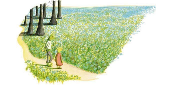 """""""Au printemps, tout le monde se cherche""""  (Mélanie Rutten / """"Nour"""", Editions MeMo)"""