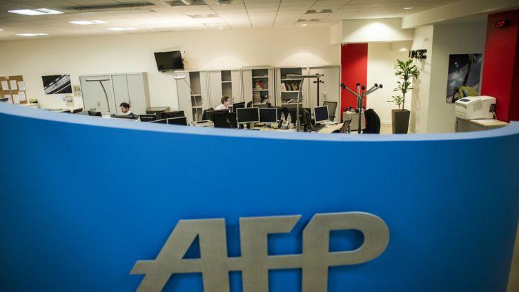 Le siège parisien de l'AFP. (FRED DUFOUR / AFP)