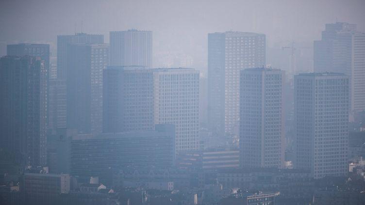 Un pic de pollution avait touché Paris, à l'hiver 2016. (LIONEL BONAVENTURE / AFP)