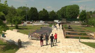 Noisy-le-Grand (Seine-Saint-Denis) prépare safan zone avant l'Euro de football. (CAPTURE ECRAN FRANCE 3)