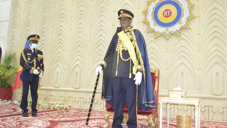 Le président du Tchad Idriss Déby Itno, élevé au rang de maréchal en août 2020. (RENAUD MASBEYE BOYBEYE / AFP)
