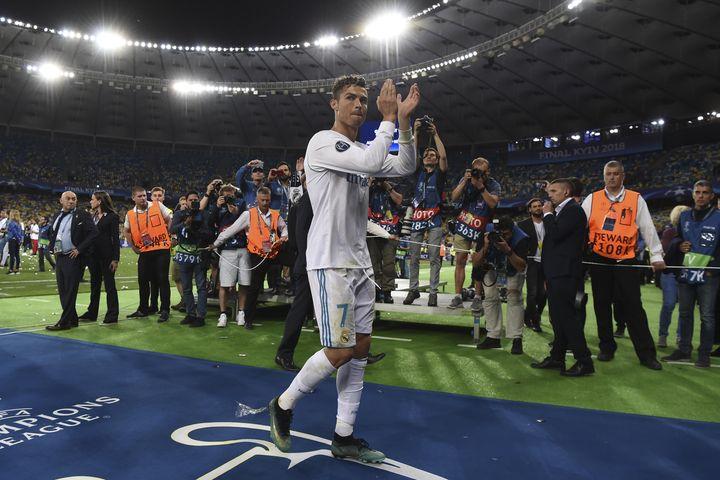 Cristiano Ronaldo a remporté quatre Ligue des champions avec le Real Madrid (2014, 2016, 2017 et 2018) (PAUL ELLIS / AFP)