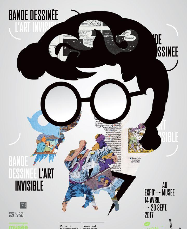 """Affiche de l'exposition """"Art Invisible"""", à découvrir au Musée de l'Imprimerie de Lyon, du 14 avril au 20 septembre.  (Musée de l'Imprimerie)"""