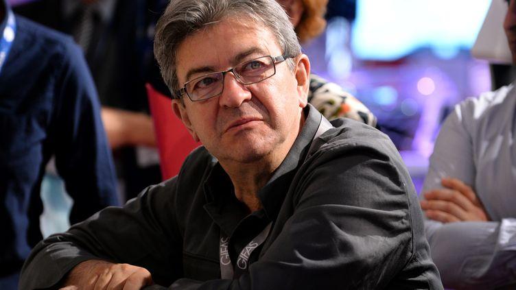Jean-Luc Mélenchon, le 23 juin 2017 au Bourget (Seine-Saint-Denis). (ERIC PIERMONT / AFP)