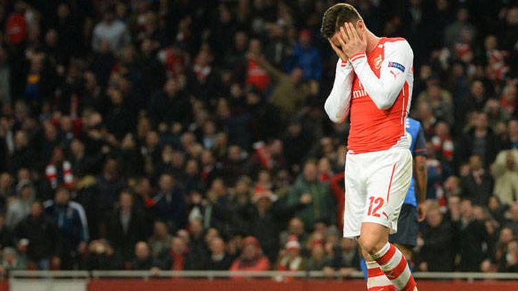 La détresse du joueur d'Arsenal, Olivier Giroud