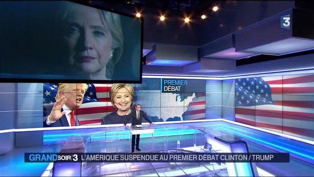 États-Unis : confrontation télévisée entre Clinton et Trump
