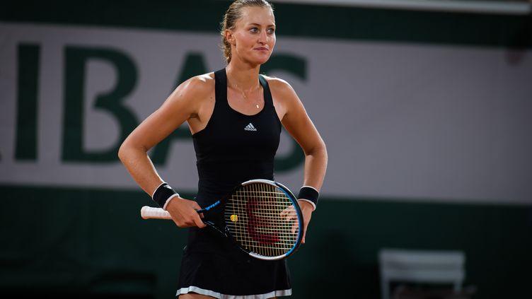 Kristina Mladenovic très frustrée après son élimination au premier tour de Roland-Garros. (ROB PRANGE / SPAINDPPI)