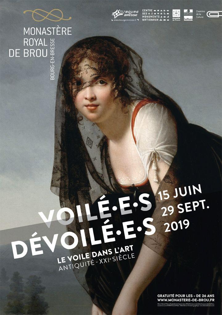Affiche de l'expositionVoilé.e.s / Dévoilé.e.s au monastère royal de Brou. (DR)