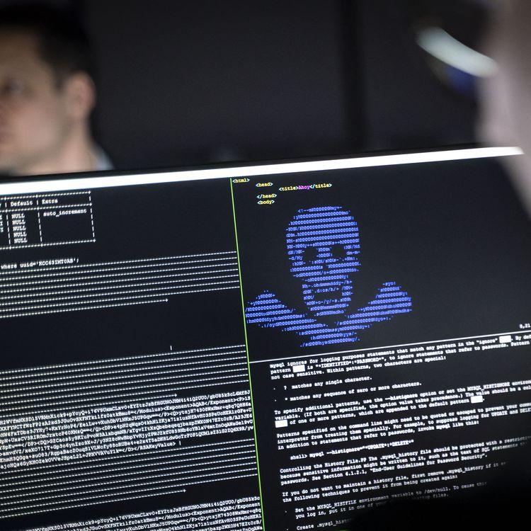 """Des acteurs de la cybersécurité enseignent dans le centre """"Athene"""", à Hessen(Allemagne) comment rendre inoffensifs les rançongiciels, le 4 décembre 2019. (FRANK RUMPENHORST / DPA / AFP)"""