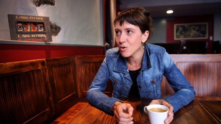La militante basque française Aurore Martin, photographiée le 28 juillet 2011 à Hasparren, dans les Pyrénées-Atlantiques. (GAIZKA IROZ / AFP)