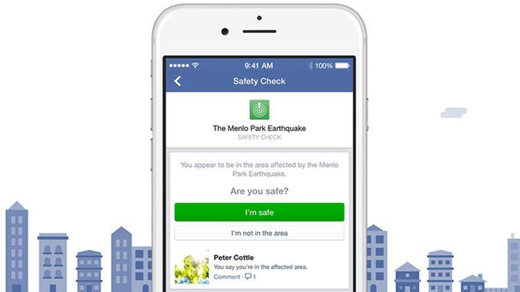 """(La fonction """"Safety check"""" présentée par Facebook cette semaine © DR)"""