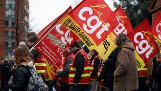 Des manifestants àToulouse (Haute-Garonne), le 5 février 2019. (ALAIN PITTON / NURPHOTO / AFP)