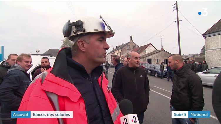 Le personnel de la société Ascoval, située dans le Nord, a mené une action vendredi 26 octobre pour se faire entendre. (FRANCE 3)