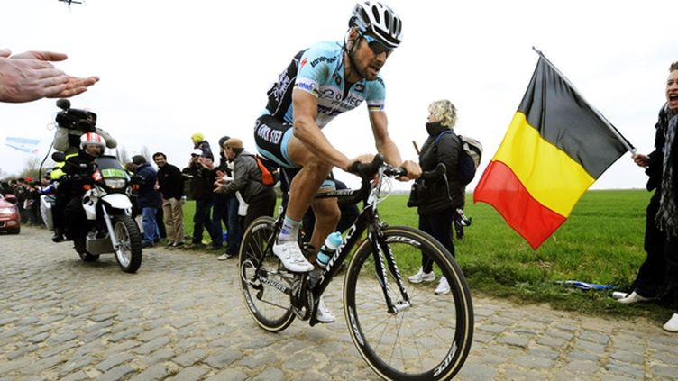 Tom Boonen lors de sa victoire sur Paris-Roubaix en 2012