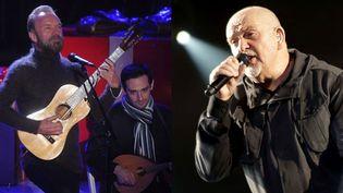 Sting et Peter Gabriel  (Brad Barker et JD1 Wenn/Sipa)