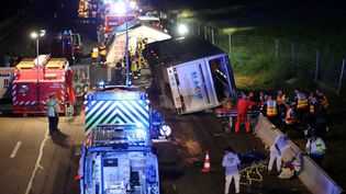 L'accident s'est produit à Chantemerle-les-Blés, dans la Drôme. (FABRICE HEBRARD / MAXPPP)