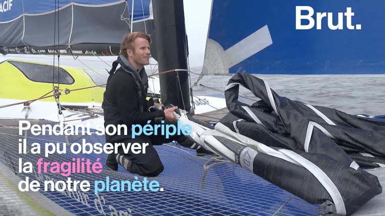 Pendant son tour du monde, François Gabart a pu observer la fragilité de la planète (BRUT)