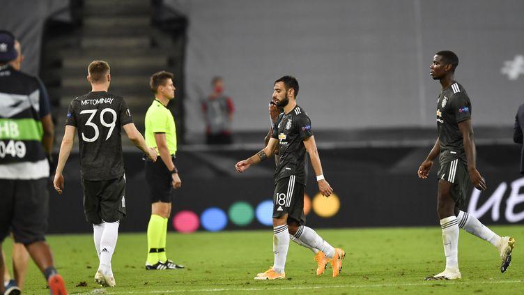 Bruno Fernandes et ses coéquipiers ont manqué l'occasion en demi-finales d'Europa League. (MARIUS BECKER / DPA)