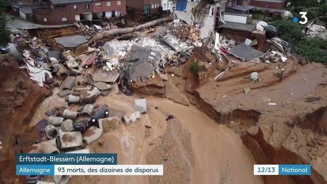 Allemagne : des inondations dramatiques ont fait au moins 93 morts, un glissement de terrain près de Cologne