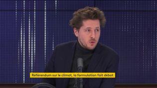 """Julien Bayou, secrétaire national d'EELV, était l'invité du """"8h30 franceinfo"""" le 22 janvier 2021. (FRANCEINFO / RADIOFRANCE)"""