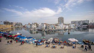 Le port de Bizerte (Tunisie), le 12 avril 2021. (YASSINE GAIDI / ANADOLU AGENCY / AFP)