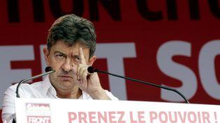 Jean-Luc Mélenchon auxEstivales citoyennes du Front de gauche, àSaint-Martin-d'Hères, (Isère), le 24 août 2012. (FAYOLLE / SIPA)