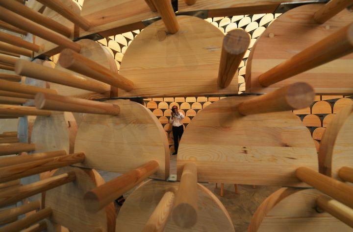 Le pavillon du kosovo à la Biennale de Venise (5 juin 2014)  (Vincenzo Pinto / AFP)