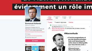 Le compte Emmanuel Hollande sur twitter. (capture d'écran)