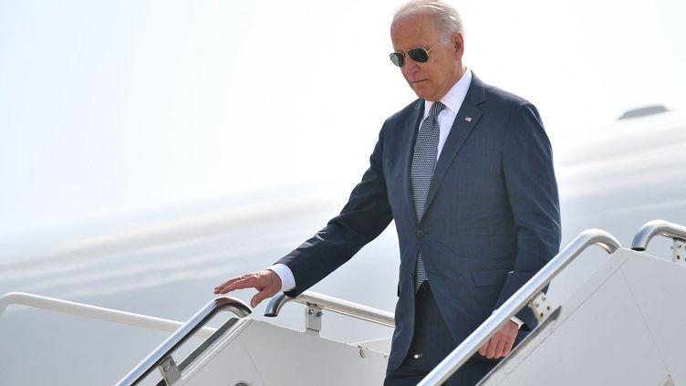 Le président américain Joe Biden, le 9 juillet 2021 à New Castle (Etats-Unis). (MANDEL NGAN / AFP)