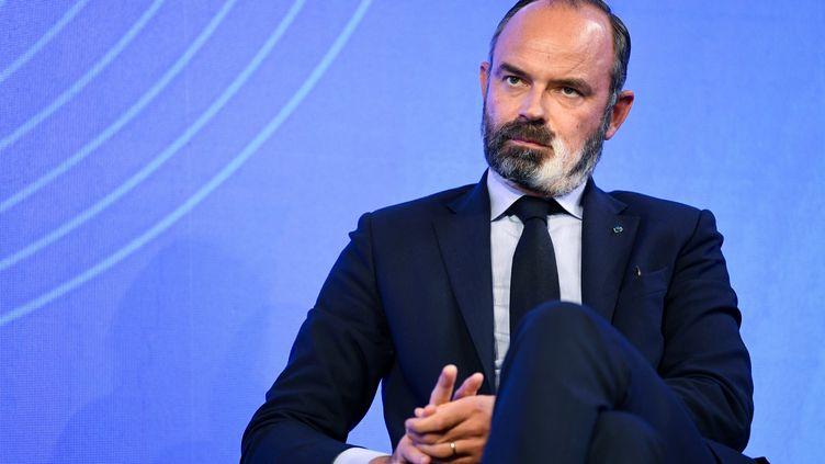 Edouard Philippe lors d'un débat du Sommetdu Grand Paris, le 29 septembre 2020, dans la capitale française. (BERTRAND GUAY / AFP)