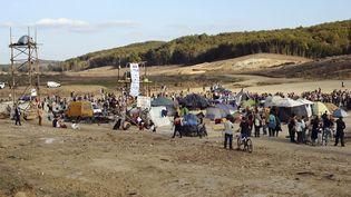 Vue de la ZAD de Sivens (Tarn), le 2 novembre 2014. (REMY GABALDA / AFP)