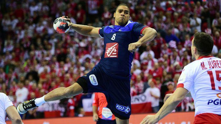 L'une des stars de l'équipe de France, Daniel Narcisse (ATTILA KISBENEDEK / AFP)