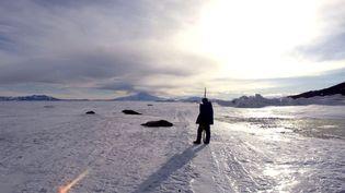 Sur la base de recherches néo-zélandaise Scott, en Antarctique, le 2 janvier 2000. (  REUTERS)