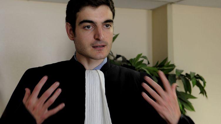 L'un des avocats de l'associationBarakaCity, Me Vincent Brengarth. (NATHALIE SAINT-AFFRE / MAXPPP)