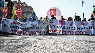 Manifestation de retraités à Paris (photo d'illustration). (JULIEN MATTIA / LE PICTORIUM / MAXPPP)