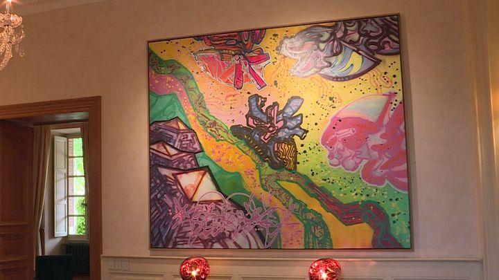 Oeuvre des années 80 de Kool Koor exposée au château de Forbin à Marseille (France 3 PACA)