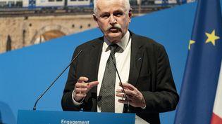 Jean-Marie Bernard, le président(Les Républicains) du conseil département des Hautes-Alpes, à Marseille, le 22 février 2021. (MAXPPP)