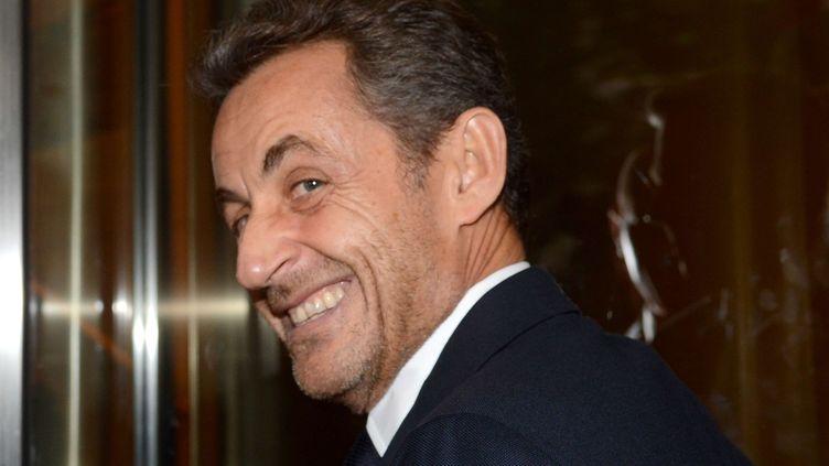 Nicolas Sarkozy, le 11 octobre 2012 à New York. (BEHAR ANTHONY / SIPA)