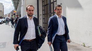 Le secrétaire d'Etat Sébastien Lecornu et le ministre des Comptes publics, Gérald Darmanin, le 2 mai 2017. (MAXPPP)
