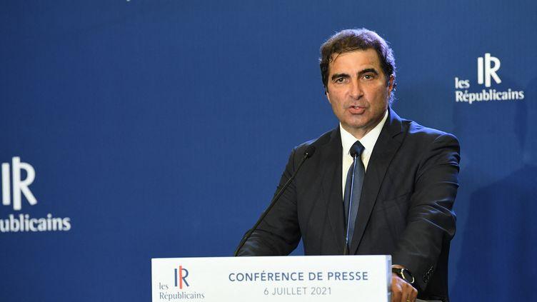 Le président du parti Les Républicains, Christian Jacob, le 6 juillet 2021 à Paris. (ALAIN JOCARD / AFP)