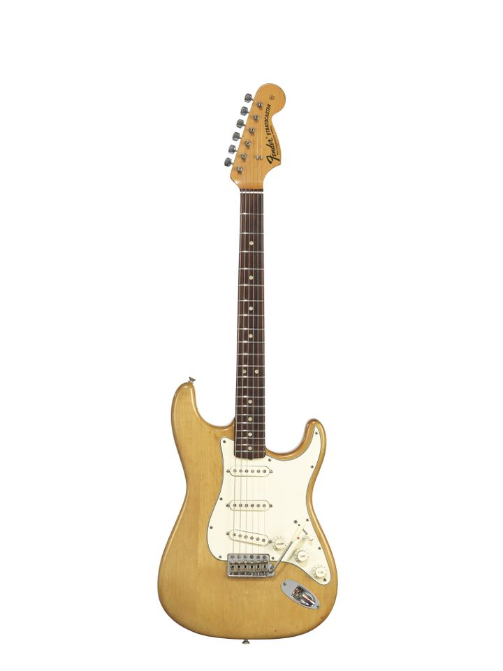 FENDER ELECTRIC INSTRUMENT COMPANY, FULLERTON, 1966 A SOLID-BODY ELECTRIC GUITAR, STRATOCASTER (CHRISTIE'S - THE DAVID GILMOUR GUITAR COLLECTION)