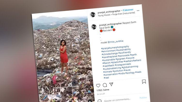 Vidéo postée sur le compte Instagram du photographe indien Pranjal Kumar. (CAPTURE D'ÉCRAN)
