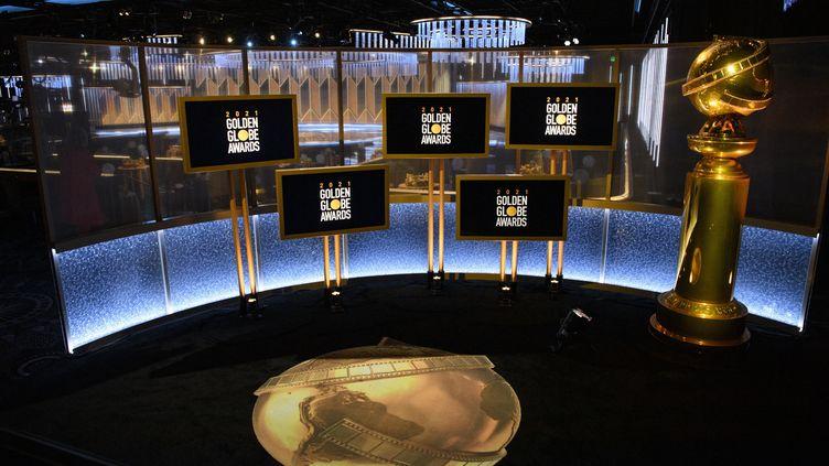 Le lieu de la 78e cérémonie des Golden Globes à Los Angeles, en Californie (Etats-Unis), le 28 février 2021. (HFPA / AFP)