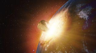 Un astéroïde frappant la Terre (image d'illustration). (ANDRZEJ WOJCICKI/SCIENCE PHOTO L / AWO)
