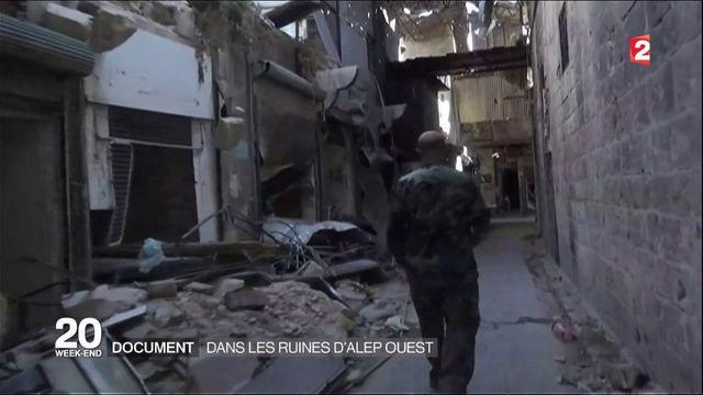 Syrie : dans les ruines d'Alep ouest