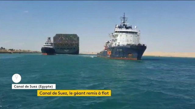 Canal de Suez : l'Ever Given enfin remis à flot