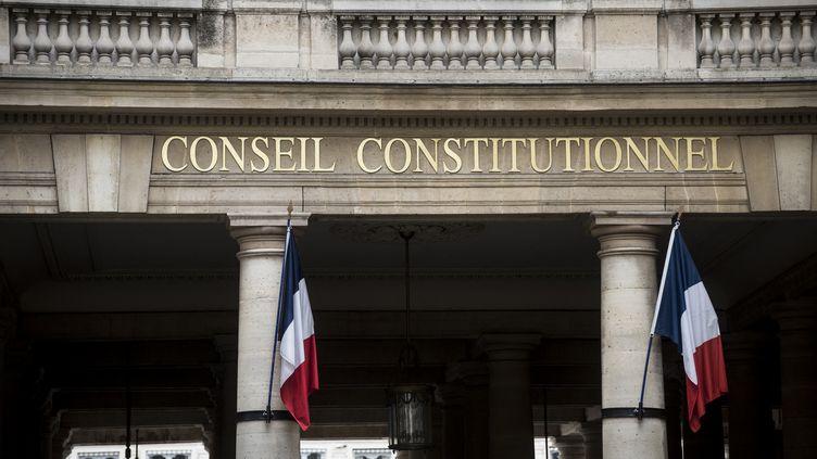 La façade du Conseil constitutionnel, à Paris, le 5 août 2021. (MAGALI COHEN / HANS LUCAS / AFP)