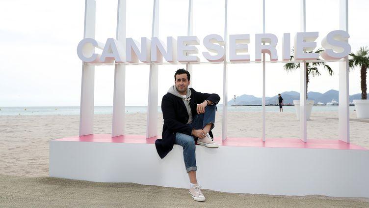 L'acteur Jonathan Cohen, pendant la première édition de Canneséries, le 7 avril 2018. (SEBASTIEN NOGIER / EPA)
